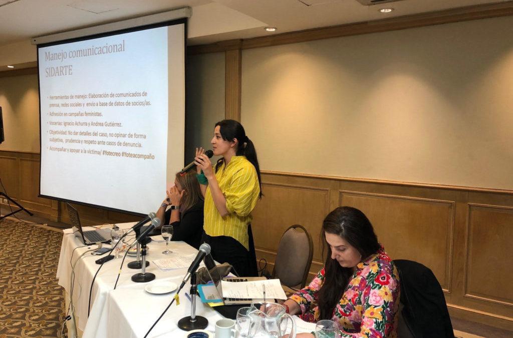 Directora de Sidarte Gabriela Arroyo está participando en Encuentro de FIA-LA en Buenos Aires