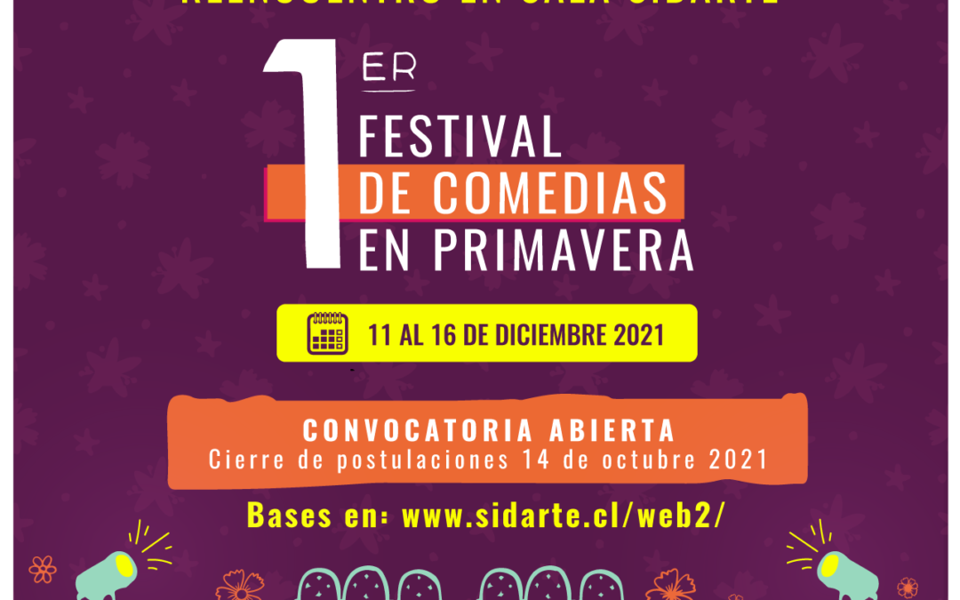1º Festival de comedias en Primavera Sidarte abre proceso de convocatoria